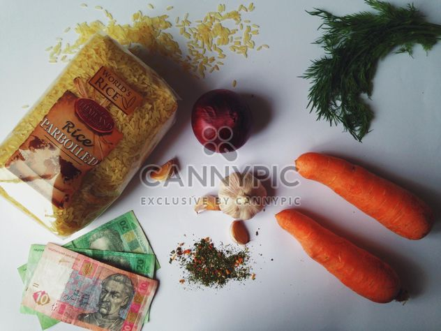 fresh vegetables and rice - Free image #198819