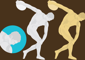 Discus Thrower Sculpture Vector - Free vector #199089