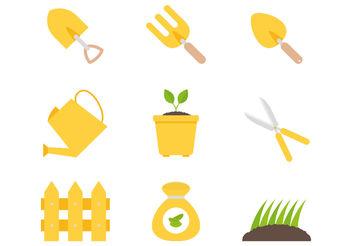 Planting Tool Vectors - Free vector #199099