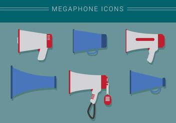 Megaphone Icon Vectors - vector #199109 gratis
