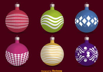 Christmas balls - Free vector #199139