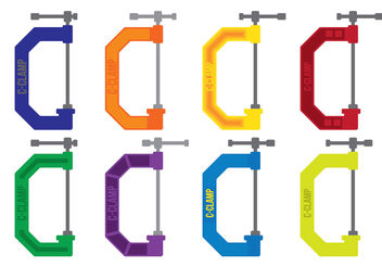ColorfulC Clamp Vectors - бесплатный vector #199159