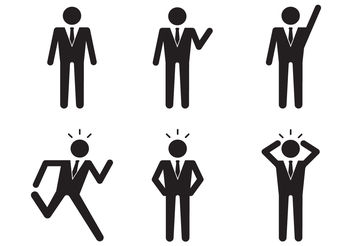 Businessman Icon - Free vector #199199