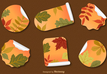 Autumnal Label Vectors - Free vector #199259