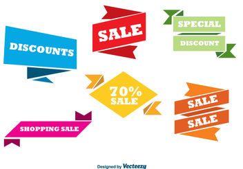 Colorful sale banners - vector #199339 gratis