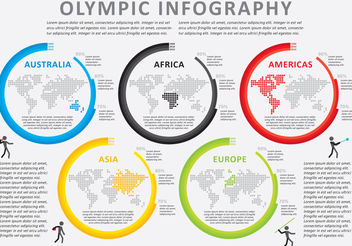 Olympic Infography Vector - Free vector #199389