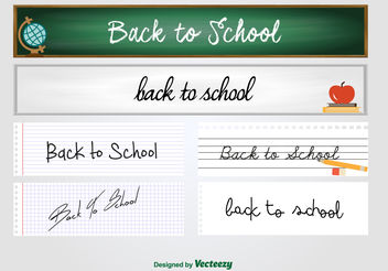 Back to school banners - Free vector #199439