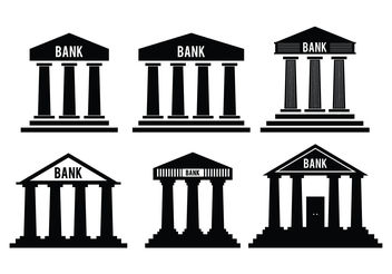 Bank Icon Vectors - Free vector #199459