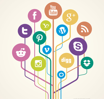 Social Network links concept - Free vector #199569