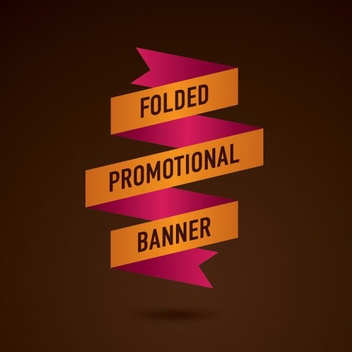 Folded Flat Promotional Banner - Free vector #199689