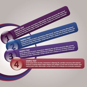 Circular Button Multicolor Banners Infographic - Free vector #199759