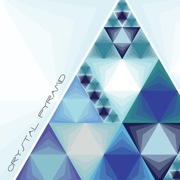 Blue Triangles Crystal Pyramid - vector gratuit #199769