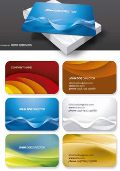 Business card template set - vector gratuit #199829