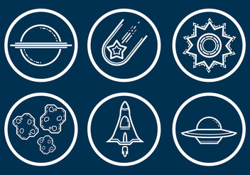 Space Icon Vector Set - Kostenloses vector #199859