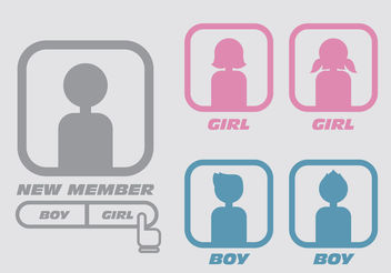 Boy Girl Default Avatar Vectors - Free vector #199869
