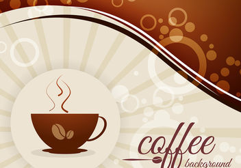 Coffee Background with Beans and Cup Vector - vector gratuit(e) #199939