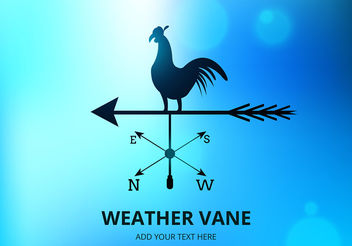 Weather Vane Vector - Free vector #199969