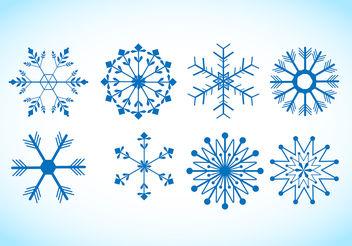 Snowflake Vectors - Free vector #199979