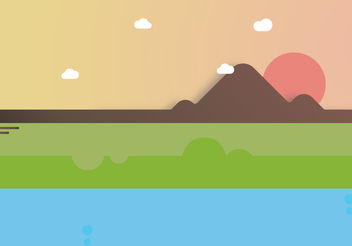 Cute Mountain Illustration - Free vector #199999