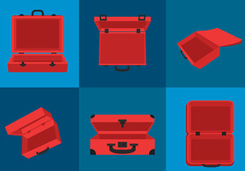 Open Suitcase - vector gratuit #200139