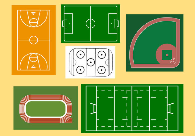 Sport Fields - vector #200209 gratis