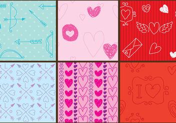 Love Pattern Vectors - vector #200369 gratis