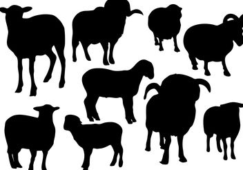 Free Sheep Silhouette Vector - бесплатный vector #200399