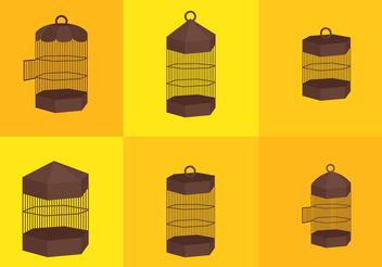Vintage Bird Cage Vectors - Free vector #200429