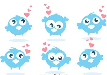 Funny Twitter Bird Vectors - бесплатный vector #200559