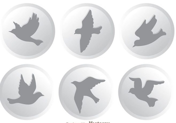 Vector Flying Bird Icons - Free vector #200579