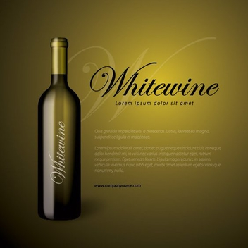 Wine Bottle Business Background - vector #200649 gratis