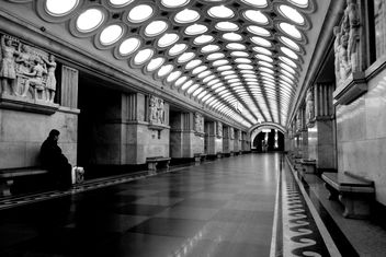 Interior of Moscow subway station - бесплатный image #200729