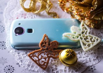 Christmas decoration of smartphone - image gratuit #200789
