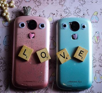 smartphones for couple - image gratuit #200799