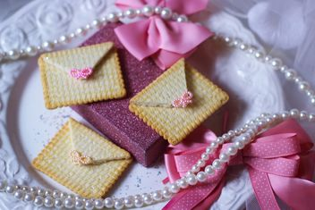 Cookies With A colorful Bows - Free image #201009