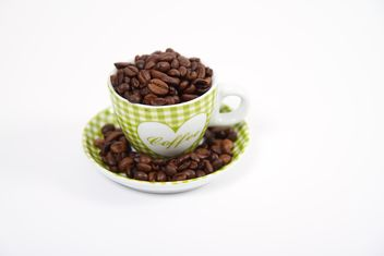 Cup of coffee beans - image gratuit #201089