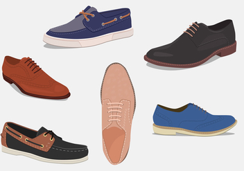 Mens shoes. Different types - Free vector #201189