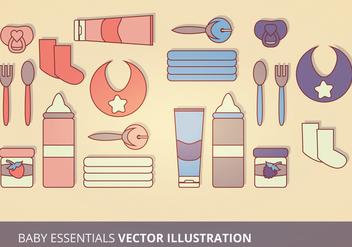 Baby Essentials Vector Illustration - Free vector #201229