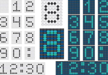 Numeral Counter Vectors - vector gratuit #201259