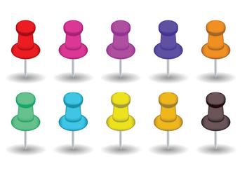 Thumb Tack Vectors - Free vector #201269