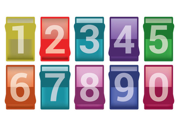 Number Counter Vectors - vector gratuit #201289