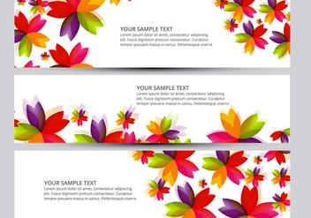 Flower banner vectors - Free vector #201329