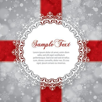 Winter Gift Card Ornate Message - vector gratuit #201399