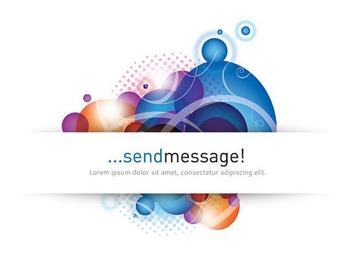 Splashed Bubbles White Banner Message - Free vector #201409