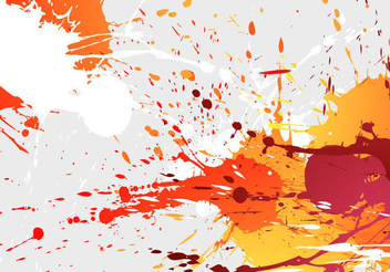 Colorful Paint Splash Background - vector gratuit #201419