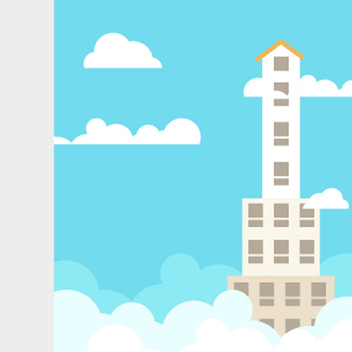 Free Vector Skyscraper Illustration - Free vector #201839