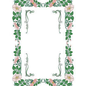 Free Vector Floral Frame - Kostenloses vector #201969