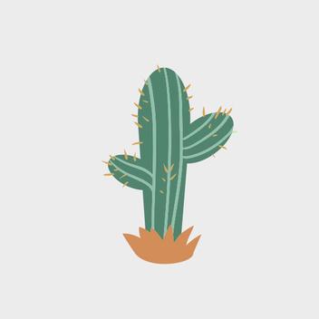 Cute Free Vector Cactus - Free vector #201989