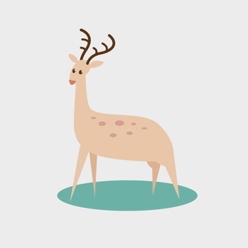 Cute Vector Deer - Free vector #202029