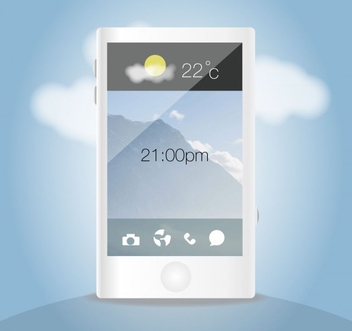 Mobile Phone Cloud Vector - Free vector #202069